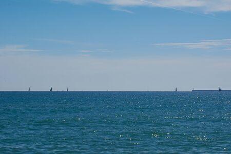 Super sunny day to sail in the Mediterranean. Mediterranean colors Stock fotó