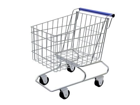 wag: Empty shopping cart isolated in white background. Stock Photo