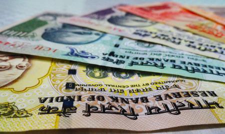 third world economy: Macro Shot of Indian Rupee Bank Notes