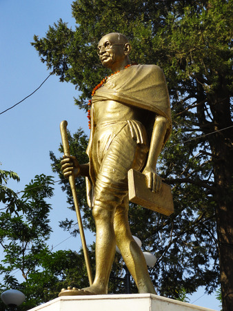mahatma: Mahatma Gandhi The monument in Shimla, India Stock Photo