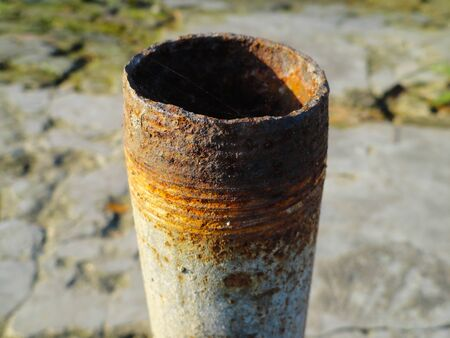 Old Vacant Useless Iron Pipe photo