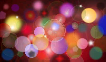 color theory: Colorful Abstract Cool  Bubbles Wallpaper Stock Photo