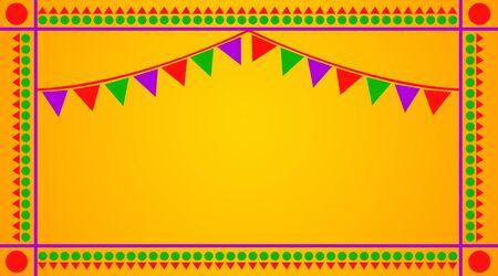 indian professional: Celebration Greetings on Yellow Background Stock Photo