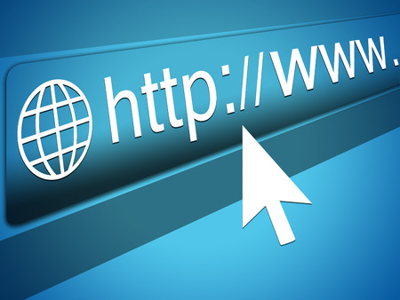 http  www: Mouse Cursor pointing at http www text in Web Browser Address Bar, Arrow Pointer