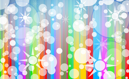 manic: Abstract Colorful Composed Background with bubbles and Star