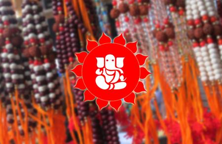devotional: Lord Ganesha on Rudraksha BG, Hindu Devotional
