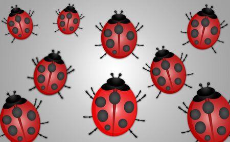 ladybug: Ladybug Abstract Illustration Stock Photo