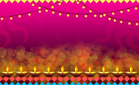 Diwali Background illustration Stock Photo