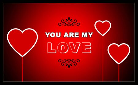 hearty: Beautiful valentine day special greeting saying you are my love