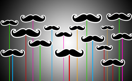 manhood: Illustration of Moustache Designs showing Manhood