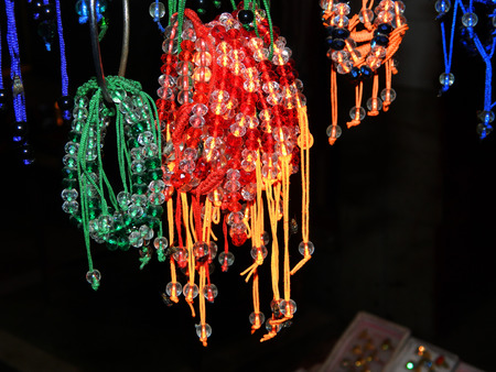 local festivals: Street Sellers Selling Handicrafts in Countryside, India