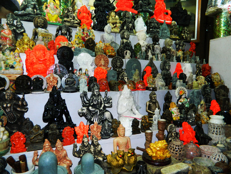 ganapati: Hundreds of Idols for sale in a Shop in India