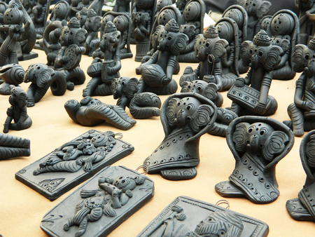 hundreds: Installation of Hundreds of Black Clay Idols