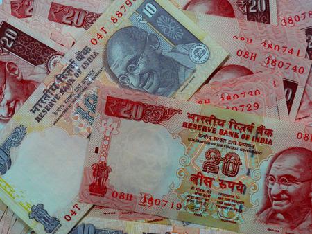 Macro Shot of Indian Rupee Bank Notes