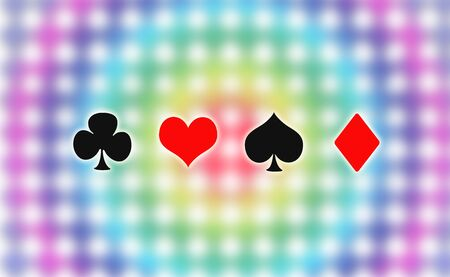 clubs diamonds: Illustration of Playing cards symbol, Hearts, Spades, Diamonds, Clubs Stock Photo