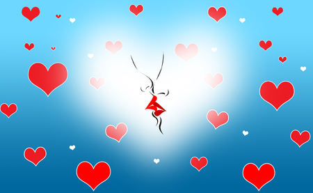 smooch: Abstract Hearts Cool Valentine Background Stock Photo