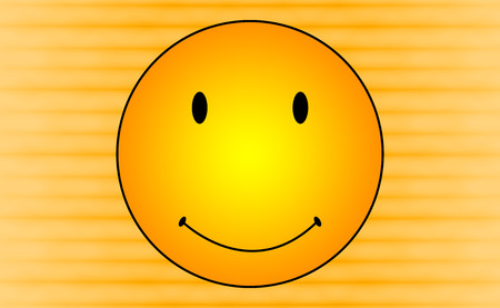 smileys: Abstract Smileys Face on Orange Color BG