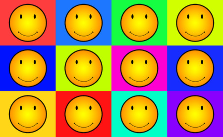 smileys: Seamless Vector Smileys Faces on Different Colors BG