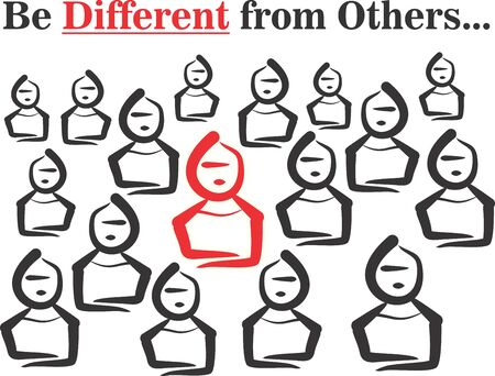 be different: Abstract Background with Be Different message