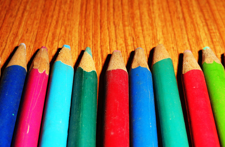 gamut: Many different colored pencils