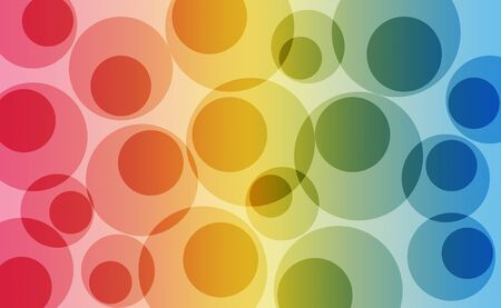 cool colors: Abstract Circles Illustrated Background with Cool Colors
