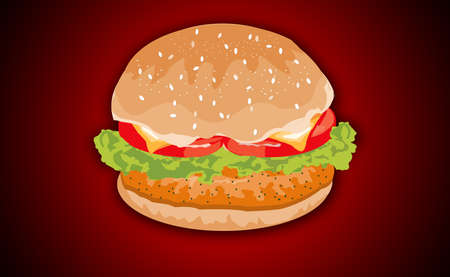 lettuce: Hamburger with Meat, Lettuce, Cheese and Tomato