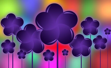 heal new year: Abstract Floral Colorful Design Background