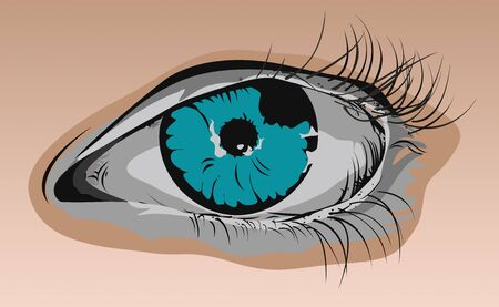 Close up Illustration of Blue Eye Stock Photo
