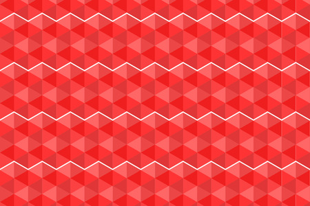 Seamless pattern geometric hexagons, Vector colorful abstract texture with triangular and hexagonal shapes