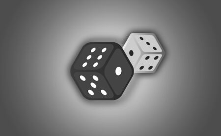 Illustration of a set of dices, Dice - Casino vector art