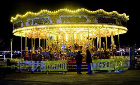 amusment: Merrygoround at night