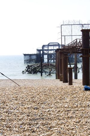 Debris of the old west pier in Brighton, England Stock Photo - 401859