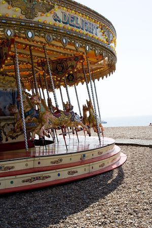 dizziness: Merry-go-round at Brighton beach Stock Photo