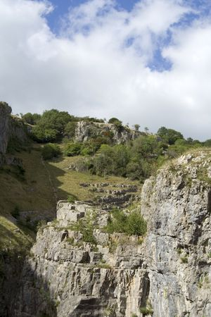 cliff face: Beautiful view from the bottom of a cliff face in somerset uk