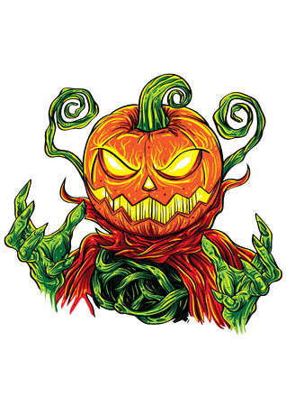 pumpkin head: A pumpkin head monster