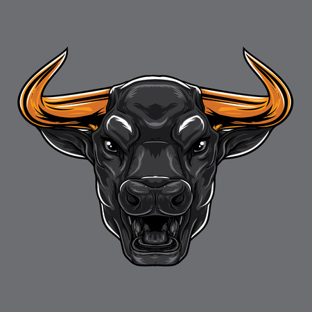 ANgry Bull Face Illustration