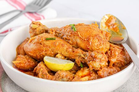 Spicy Indian Chicken Masala, Popular Indian Chicken Gravy Dish, Indian Cuisine, Indin Food Photography