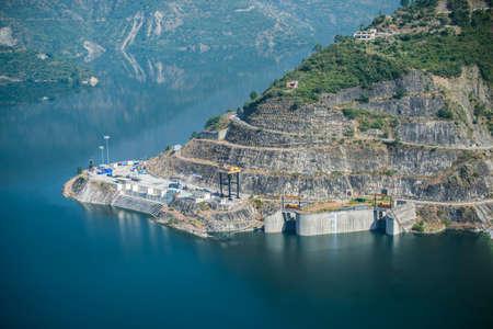 View of Tehri hydropower dam, Uttarakhand India