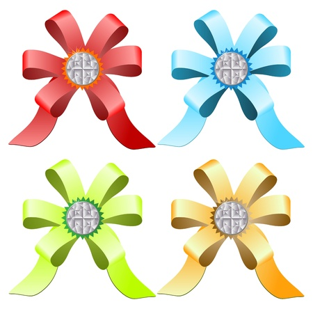 trumpery: Multi-colored ribbons with diamonds Illustration