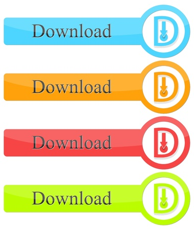 Download button Stock Vector - 20681235
