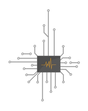 Electronic logo chip Vector