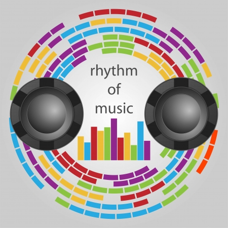 Background Rhythm of music Vector
