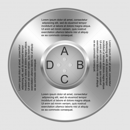 Vector chrome rings and infographics Vector