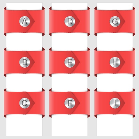 rivet: Infographic of red ribbons with a rivet