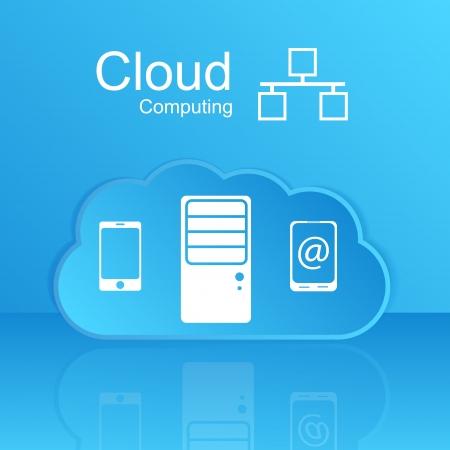 Vector cloud computing concept  Modern design template Stock Vector - 24365896