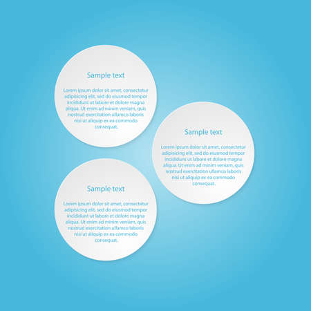 Infographic design with white circles Vector