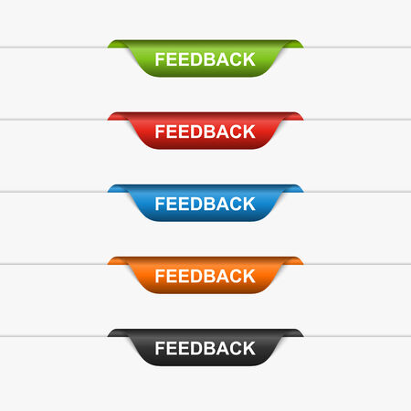 Feedback colorful labels, stickers  Vector illustration  Vector