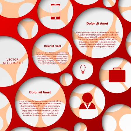 Abstract infographic  Modern design template