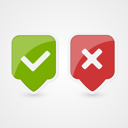 Yes and No icons  Vector  Illustration