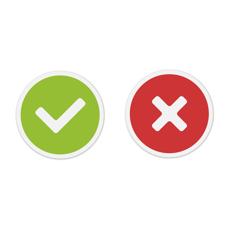 Yes and No icons Stock Vector - 24475317